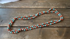 "LONG Vintage 60"" Japanese Glass Bead Knotted Necklace - $69.29"