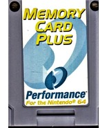Nintendo 64 N64 Memory Card Plus Performance Brand - $8.75