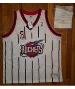 NWT Authentic Houston Rockets Steve Francis SIGNED AUTO COA White Home J... - $299.99