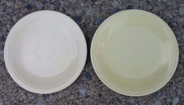 Vintage Old Ivory Fiesta Yellow Two 6-1/4' Plates Saucer Homer Laughlin - $17.77