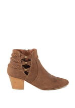 London Rag Women's Cognac Colour Pointed Toe Zipper Bootie - $74.99+
