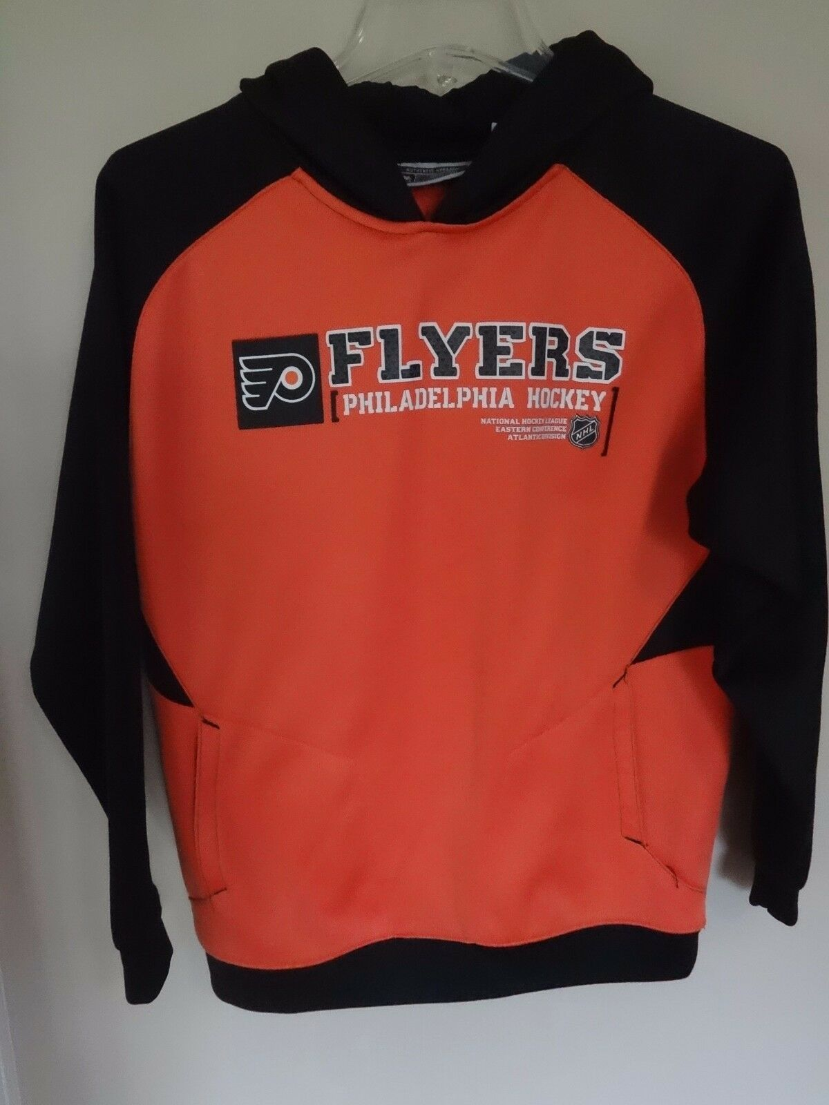 Primary image for Vintage Reebok Philadelphia Flyers Premium Hockey Hoodie Sweatshirt Youth Large