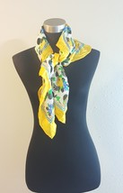 The Specialty House Inc Yellow Floral Print Silk Scarf  - €18,39 EUR