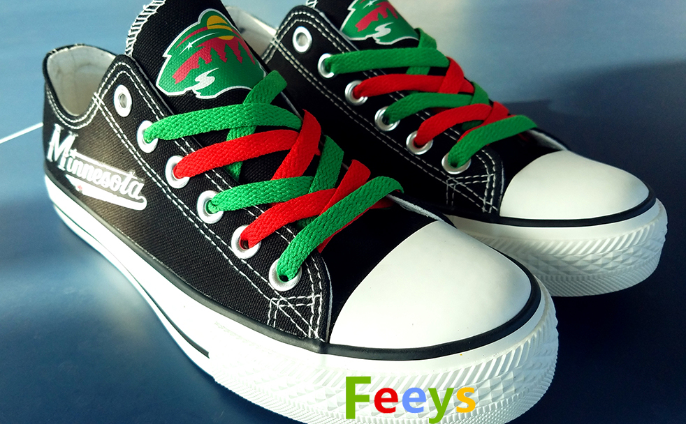 Minnesota wild shoes wild sneakers womens fashion ice hockey shoes birthday gift