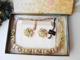 Coro Pegasus Necklace Earring Set Vintage NIB Aurora Borealis Designer F... - $215.00