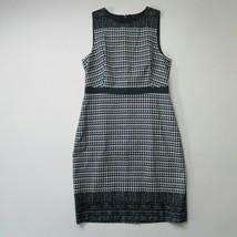 NWT J.Crew Perfect Sheath in Indigo Blue French Matelassé Cotton Dress 10 - $61.98
