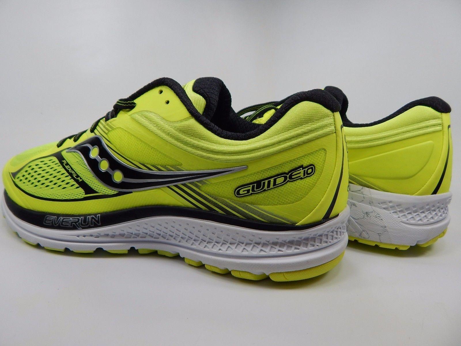 Saucony Guide 10 Men's Running Shoes Sz US 9 M (D) EU 42.5 Citron Black S20350-3