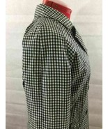 Liz & CO Black White Gingham Cotton Designer Jacket Trench Coat Raincoat... - $44.99