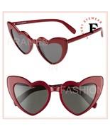 SAINT LAURENT LOULOU 181 YSL SL181 Red Black Heart Sunglasses Unisex 002... - $259.88
