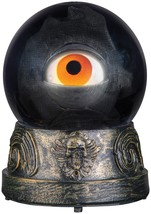 HALLOWEEN ANIMATED EYEBALL CRYSTAL BALL  HAUNTED HOUSE PROP DECORATION - $24.70