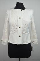 ANNE KLEIN NWT IVORY WHITE BEFORE SUNRISE POCKETED BLAZER 0 $139 1149 - $13.88