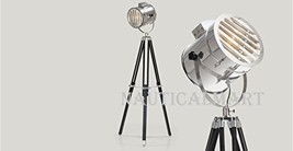 Nauticalmart Tripod Floor Lamp With Black Wooden Legs - $197.01