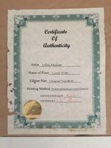 Frame Signed Leroy Neiman Photomechanical Color Process Lions Pride Lion COA image 6
