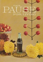 Pause for Living Autumn 1961 Vintage Coca Cola Booklet Holiday Bazaar Pa... - $9.89