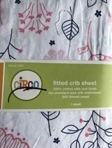 Circo Navy Pink Trees Crib Sheet Baby Bedding New Boy Girl - $15.29