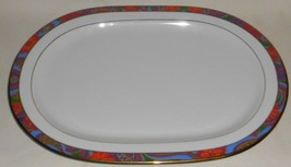 Block Spal MANON PATTERN Large Oval Platter PSYCHEDELIC - $19.79