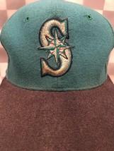 Seattle MARINERS MLB New Era Wool Fitted Adult Baseball Ball Cap Hat Size 6 7/8 - $20.48