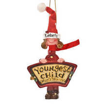Mom's Favorite Youngest Child Ornament-plainGirl - $12.49