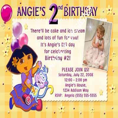 Fairy Dora The Explorer Go Diego Go Girls Custom Photo Birthday Party Invitation