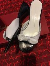 Salvatore Ferragamo Women's Size 7 B Black/white Wedge Heel Sandals - $79.19