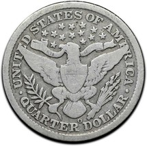1896O Silver Barber Quarter Dollar 25¢ Coin Lot# A 373 image 2