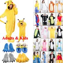 2018 Kids Adults Animal Kigurumi Pajamas Cosplay Sleepwear Costumes Unisex - $8.99