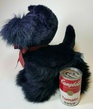 Fiesta Scottie Dog Plush Stuffed Animal Toy Dark Purple with Gingham Bow... - $23.71