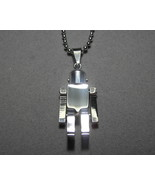 "Stainless Steel Robot pendant with 19.5"" Chain Movable 3D  - $12.50"