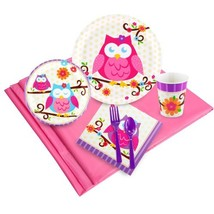 BirthdayExpress Owl Blossom Party Supplies - Party Pack for 24 - $27.63