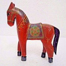 Vintage Reflections Rustic Hand Carved Fine Painted Wooden Horse Figurin... - $26.69