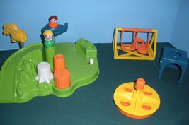 Vintage Fisher Price Little People #2525 Playground Accessory Set COMP/N... - $40.00
