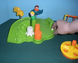 Vintage Fisher Price Little People #2525 Playground Accessory Set COMP/NR MT-MT! image 2