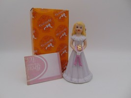 Enesco Growing Up Girls Blonde Figurine Age 8 E-2308 New in Box 1981 - $16.83