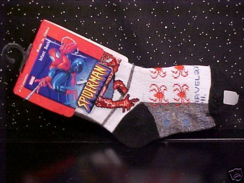 *SPIDER-MAN*SOCKS*BLUE*RED*BLACK*INFANT*6-12 MONTH*NWT*