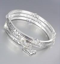 INSPIRATIONAL 1 CORINTHIANS 13:4-8 LOVE Scripture Silver Crystals Wrap B... - $26.99