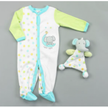 Vitamins Baby 2-Piece Footed Coverall Set Nigh Night Blankie Buddy  - $24.00