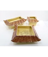 Vintage Oriental Shaped 3 Piece Planter Set Maker Unknown - $79.99