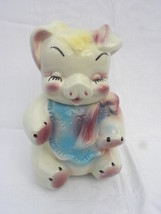 Vintage 1940's American Bisque Shy Sitting Girl Pig/Elephant Bottom Cook... - $42.99