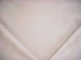 2-1/2Y NINA CAMPBELL SILVER WHITE ECRU POLKA DOT CHENILLE UPHOLSTERY FABRIC - $43.56