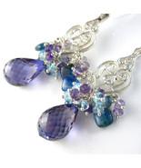 Purple Midnight Earrings - Alexandrite, Gemston... - $235.00