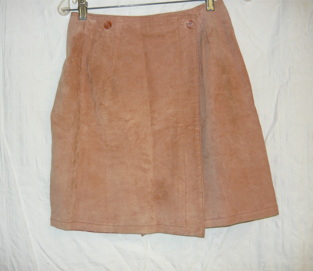 Primary image for Tan Lined Suede Wrap Mini Skirt-8