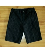 Dickies Mens Shorts Black Plaid Pinstripe Flat Front Size 32 Cell Phone ... - $9.85