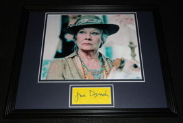 Judi Dench Signed Framed 11x14 Photo Display James Bond G - $58.54