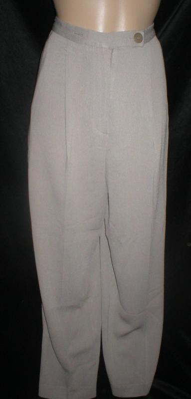 Emanuel Ungaro Petite gray dress career pants 2P 2