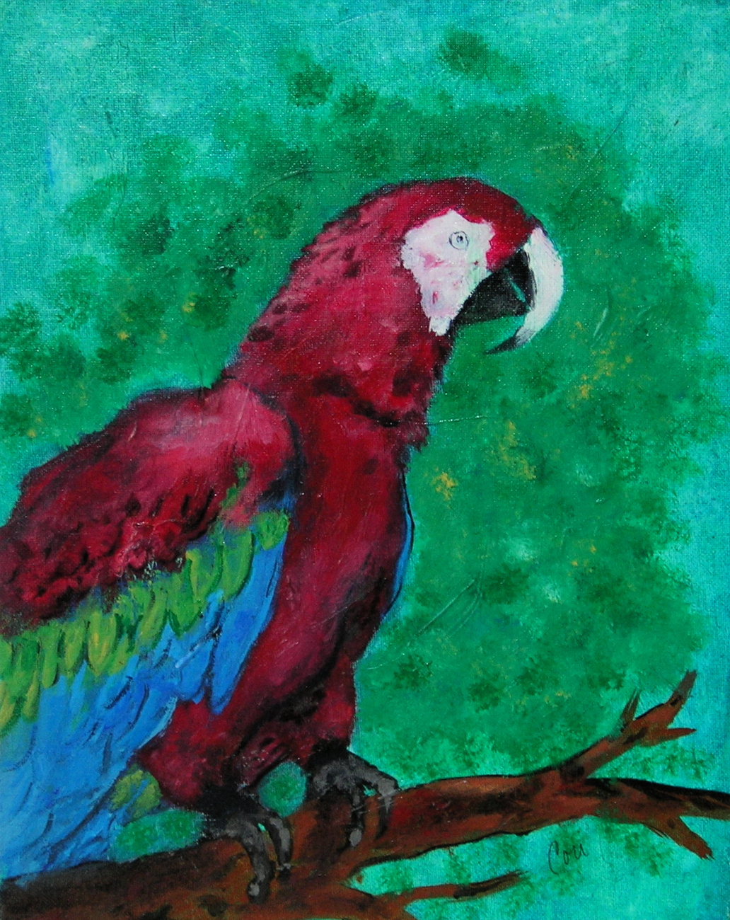 Primary image for Bird Art Parrot Acrylic Painting Solomon