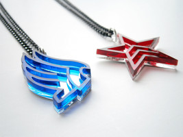 Mass Effect Paragon Renegade Necklaces - Laser Cut Acrylic-  Friendship ... - $25.95