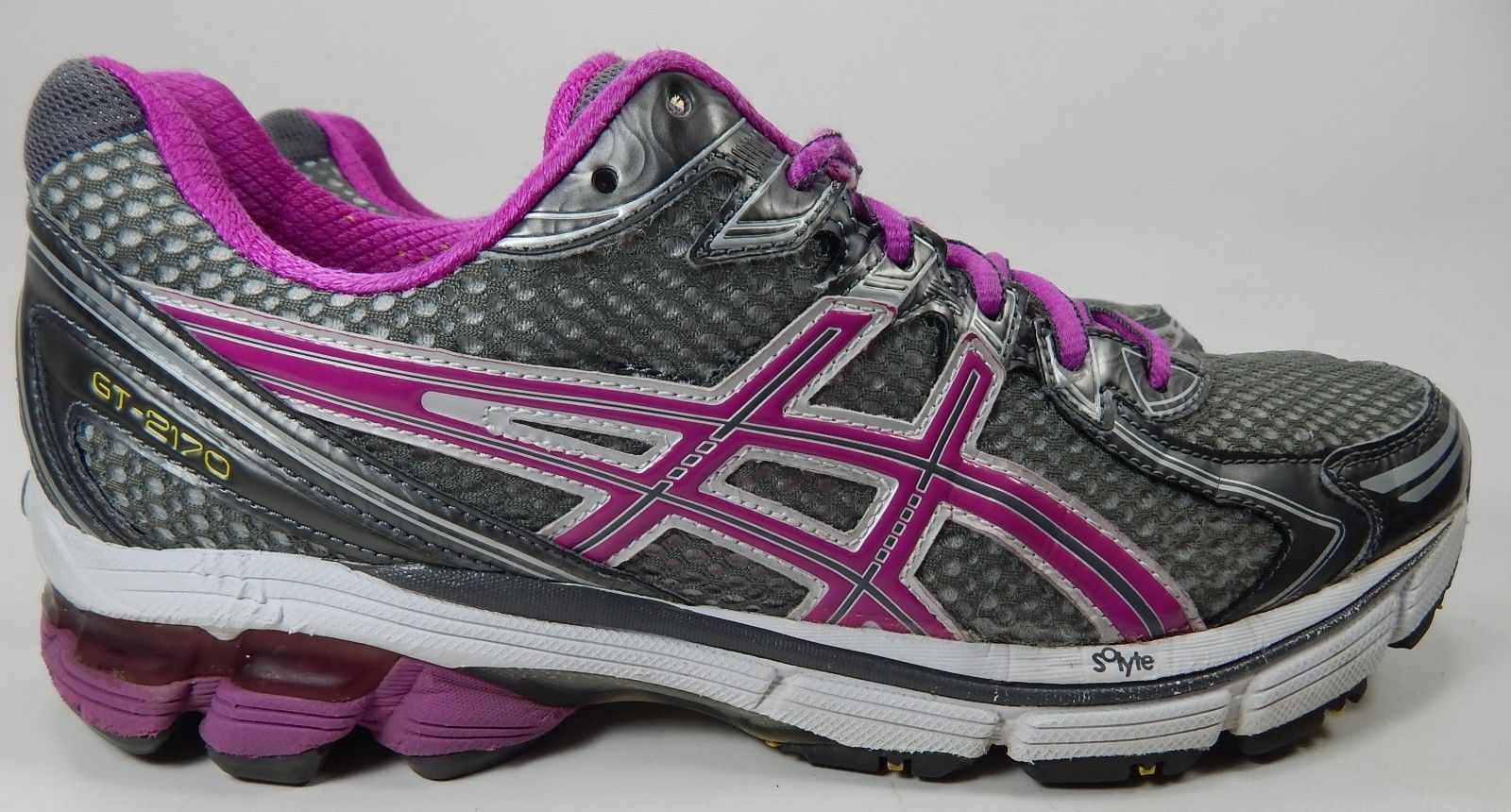 Asics GT 2170 Size US 10 M (B) EU 42 Women's Running Shoes Gray Purple T256N