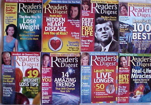 (8 )READER'S DIGEST Magazines-2005-JANUARY,FEB,MARCH,MAY,JULY,AUG,SEPT,DECEMBER