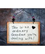 Wall Decor Sign - No Ordinary Grandma  - $11.99