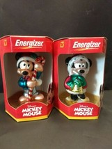 2000 set Walt Disney Mickey Mouse Energizer Battery promotion Christmas ornament - $19.50